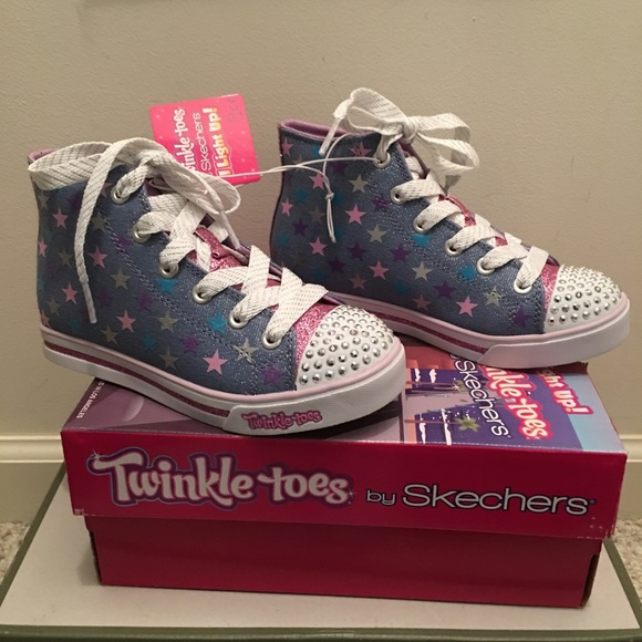 Skechers Girls Twinkle Toes Light Up Shoes New NWT